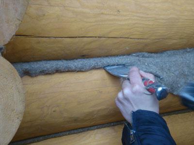 Конопатка сруба деревянного дома своими руками
