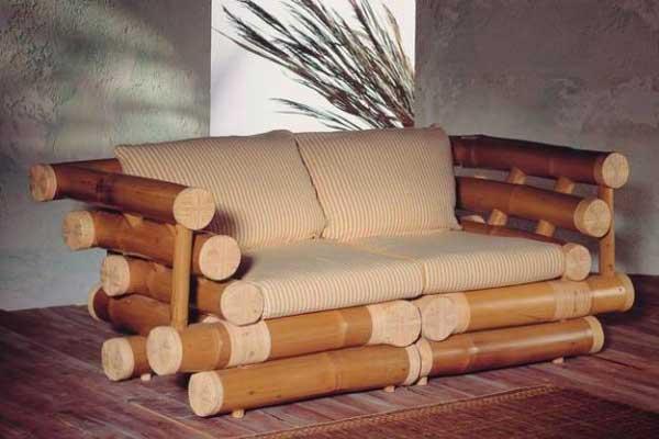 Диван из бамбука