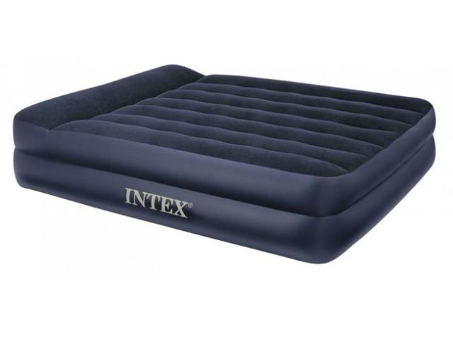 Синяя надувная кровать Intex