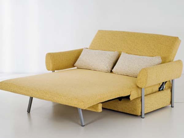 Желтый диван с ортопедическим матрасом
