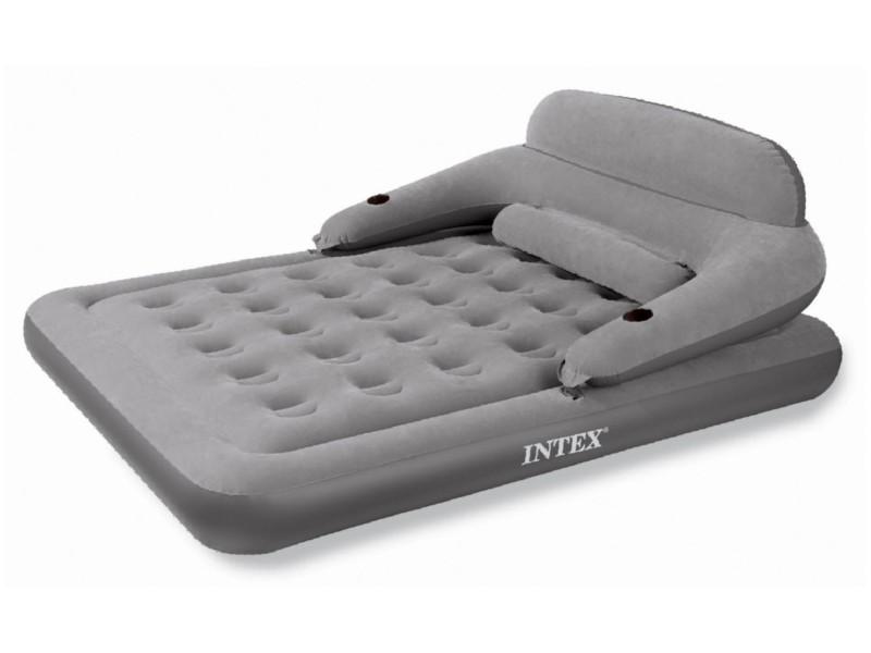 Бежевая двуспальная надувная кровать