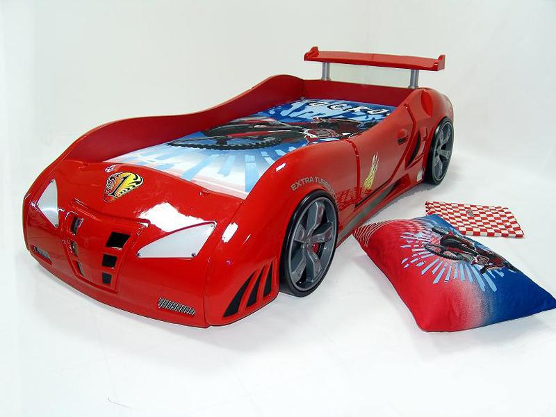 Красная кровать-машина