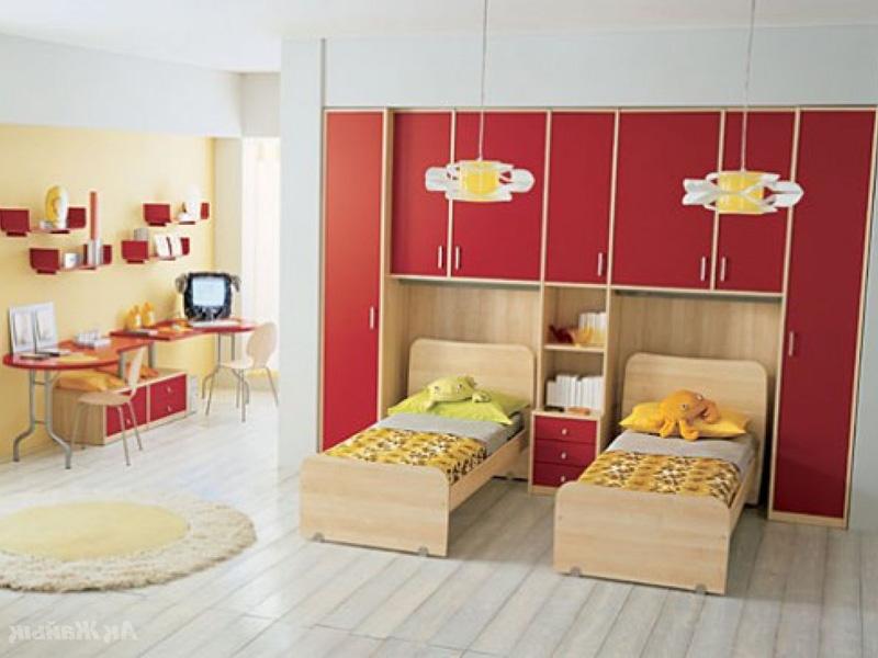 Мебель в комнате для двоих детей