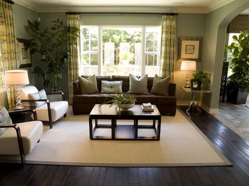 Озеленение большой гостиной