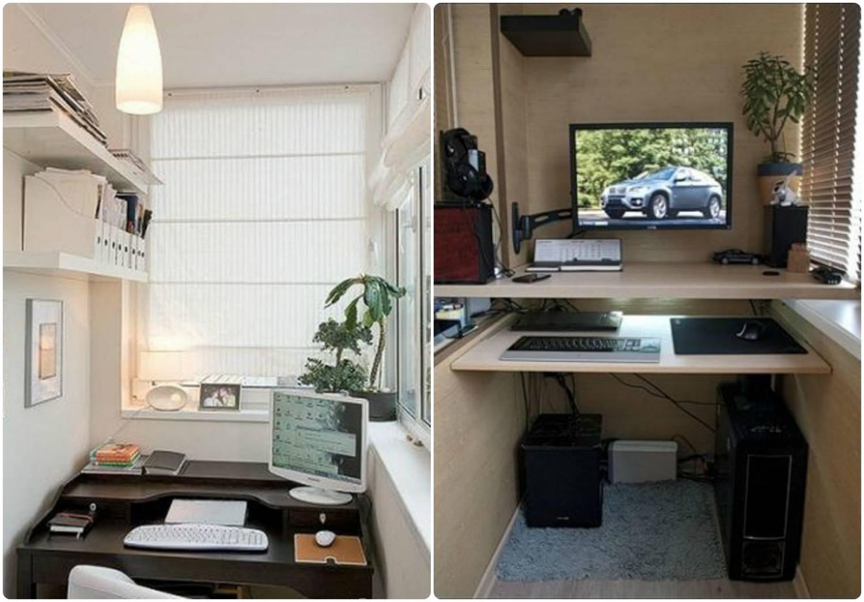 Варианты дизайна для маленьких балконов.