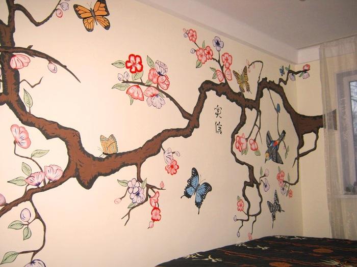 Как сделать рисунки на стенах своими руками