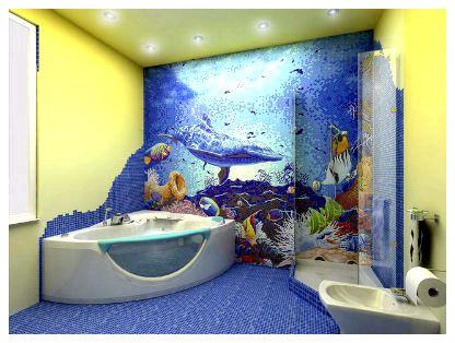 Как сделать волны в ванной