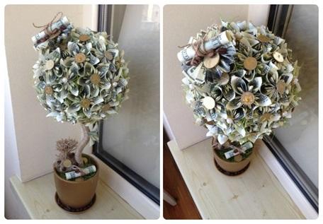 Топиарий денежное дерево из купюр своими руками фото 857