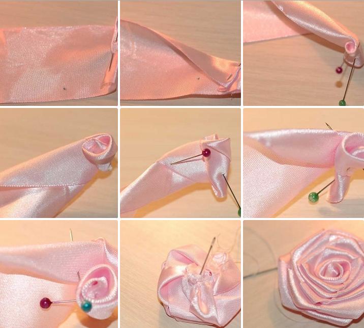 как сделать розу из ленты пошаговая инструкция с фото - фото 8