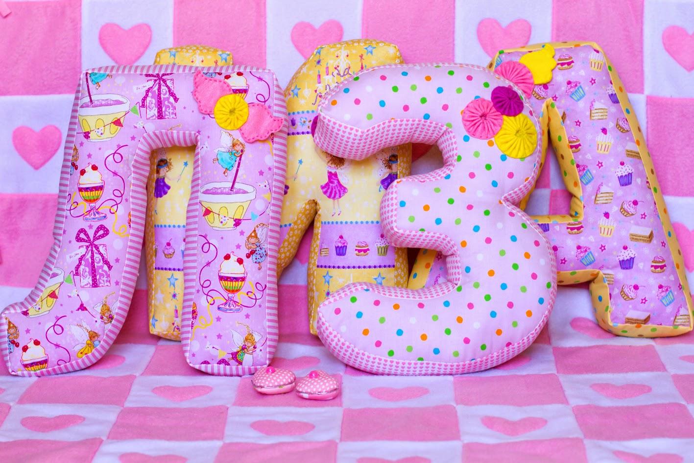 Именные подушки буквы своими руками
