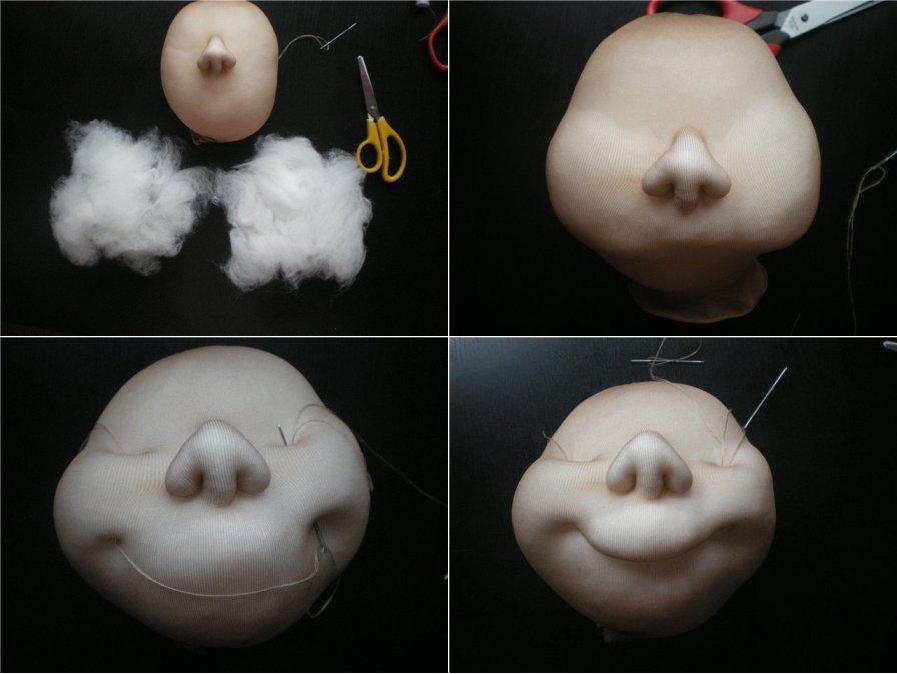 Куклы из капроновых колготок пошаговая инструкции