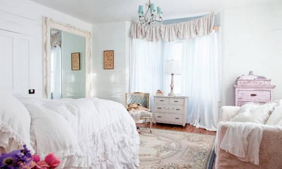 Спальня в стиле шебби-шик: хорошо потёртое новое