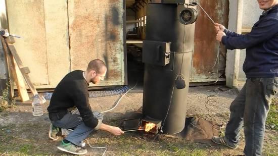 Печка длительного горения своими руками