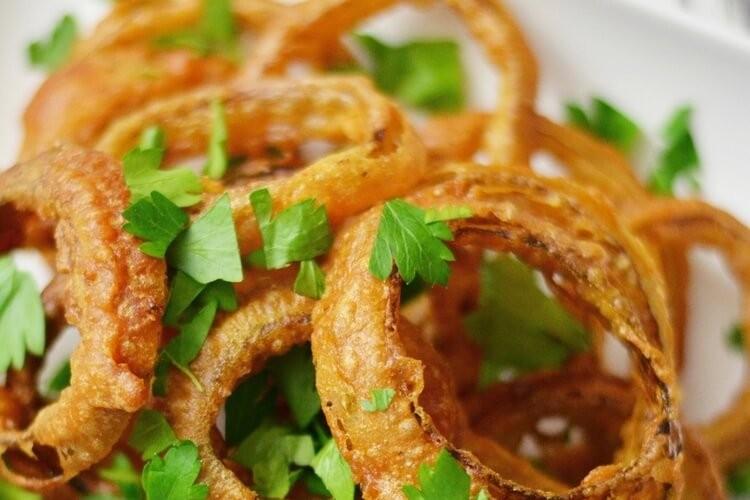 Рецепт луковых колец в кляре с сыром с пошагово в
