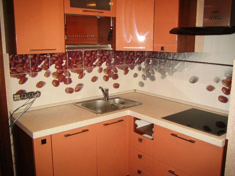 Плитка для кухонного фартука фото