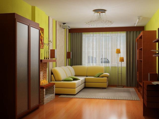 ремонт зала в квартире фото: