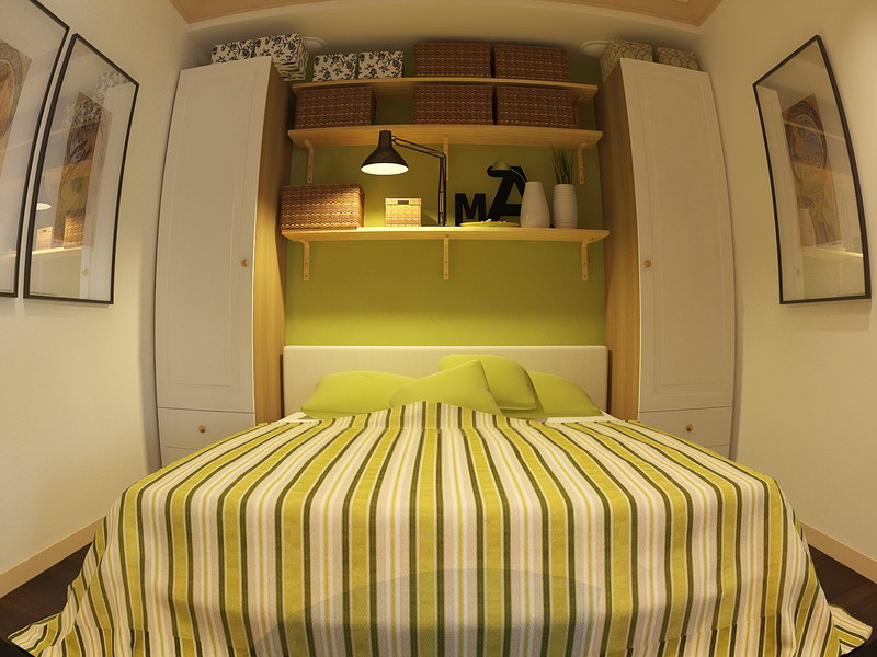 Фотография маленькой спальни