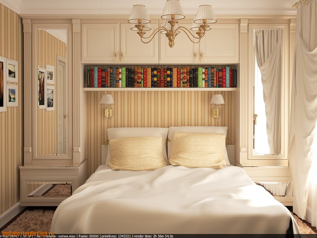 Оформление интерьера небольшой спальни