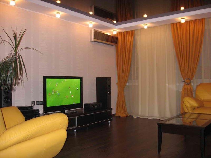 Фотография ремонта зала в квартире