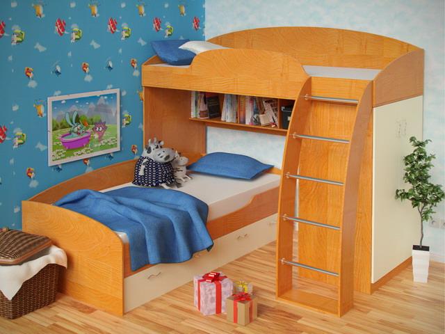 фото интерьер двухъярусная кровать