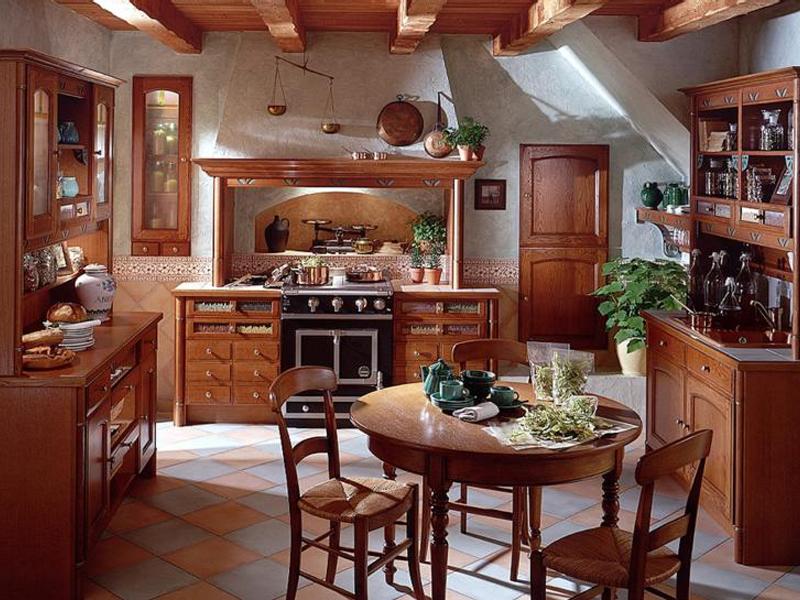 Деревенский стиль кантри на кухне