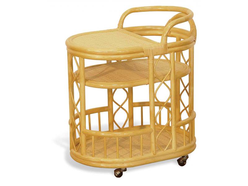 Сервировочный столик из ротанга