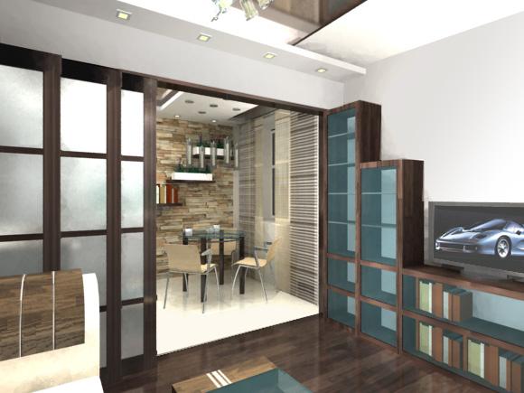Идея дизайн однокомнатной квартиры