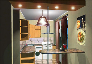 Свет в кухне