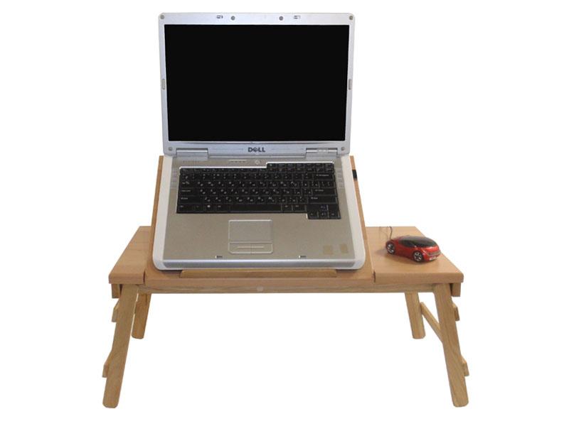 Деревянный столик с подставкой