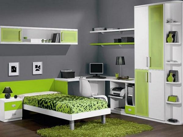 Уголок школьника со шкафом и кроватью