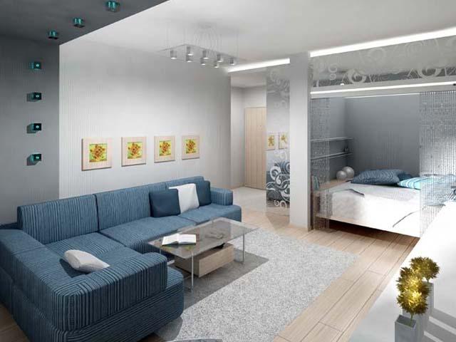 Дизайн спальни в небольшой квартире