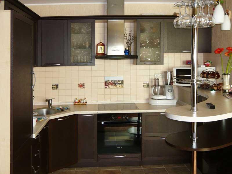 Дизайн мебели маленькой кухни