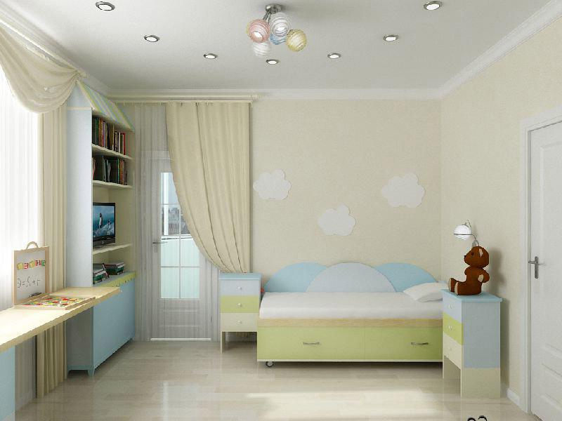 Дизайн детской комнаты 16 метров