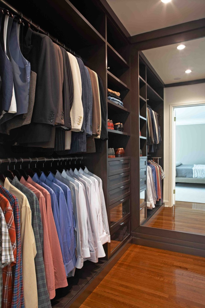 Дизайн мужской гардеробной