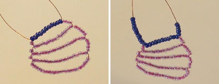 Мастер-класс по плетению бабочки из бисера и проволоки. Шаг 12