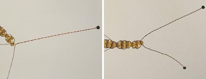 Мастер-класс по плетению бабочки из бисера и проволоки. Шаг 3