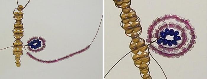 Мастер-класс по плетению бабочки из бисера и проволоки. Шаг 6