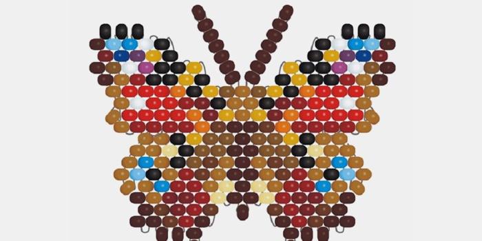 Мозаичное плетение Бабочка