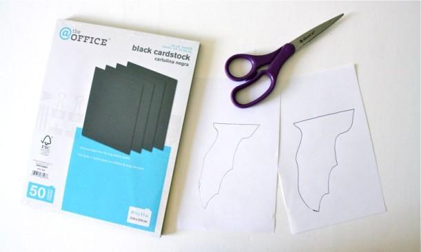 Мастер-класс по созданию летучих мышей из чёрной бумаги на Хэллоуин. Шаг 1