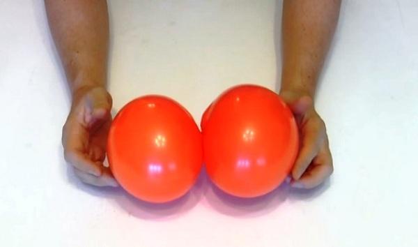 Мастер-класс по созданию тыквы из воздушных шаров на Хэллоуин. Шаг 3