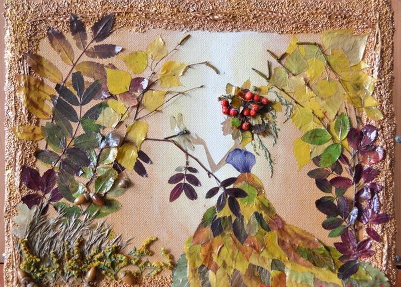 Осень картина своими руками