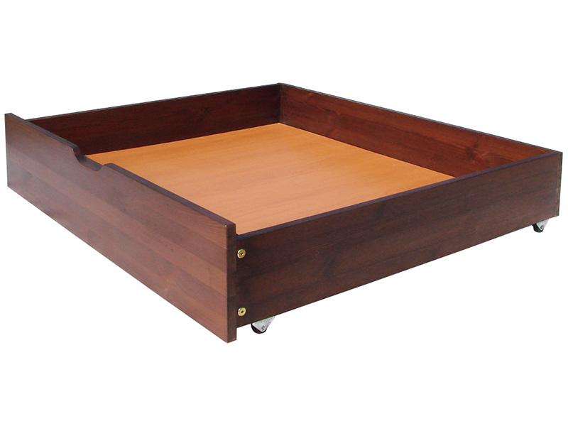 Подкроватный ящик для вещей, сделанный из дерева