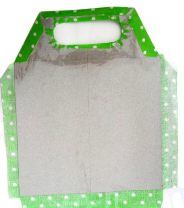 Мастер-класс по создания коробки из картона с двумя отделами. Шаг 20