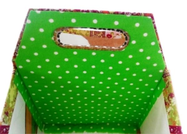 Мастер-класс по создания коробки из картона с двумя отделами. Шаг 21
