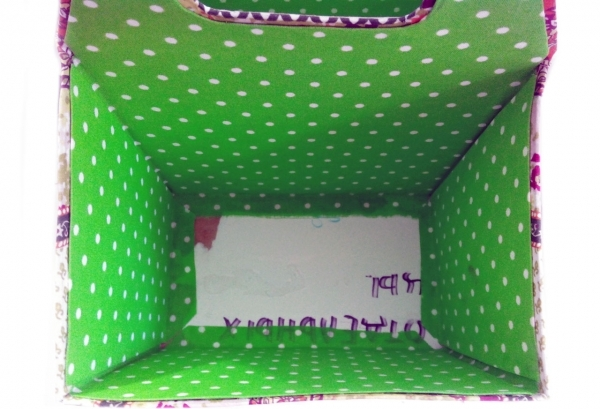 Мастер-класс по создания коробки из картона с двумя отделами. Шаг 23