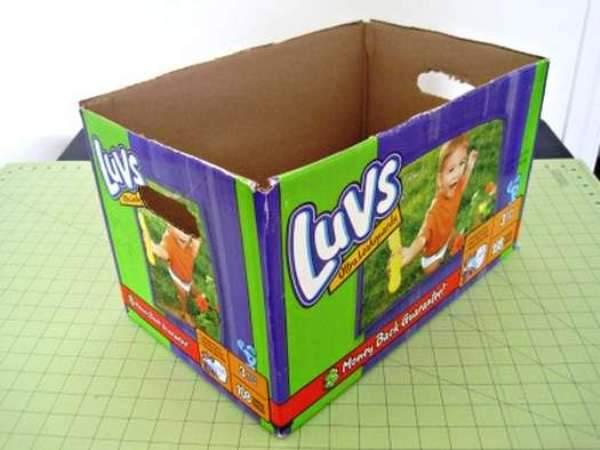 Мастер-класс по созданию картонной коробки для белья. Шаг 1