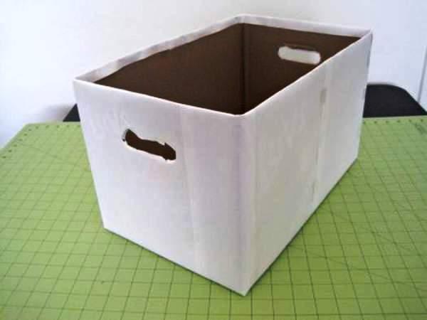 Мастер-класс по созданию картонной коробки для белья. Шаг 2