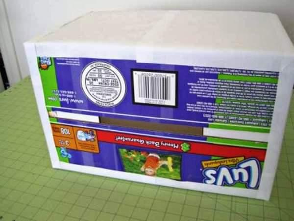 Мастер-класс по созданию картонной коробки для белья. Шаг 4