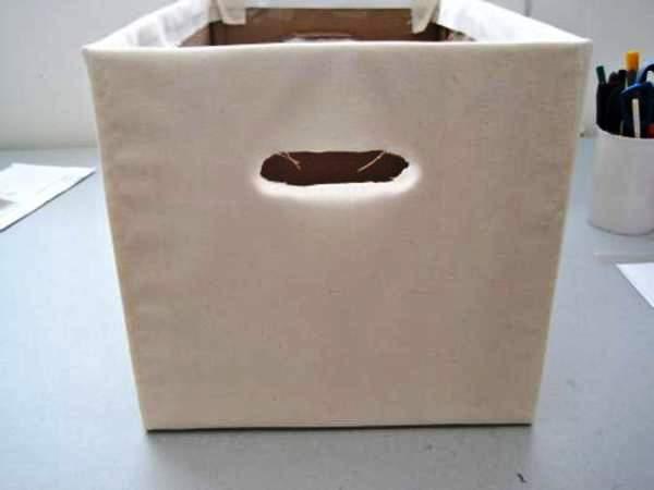 Мастер-класс по созданию картонной коробки для белья. Шаг 16