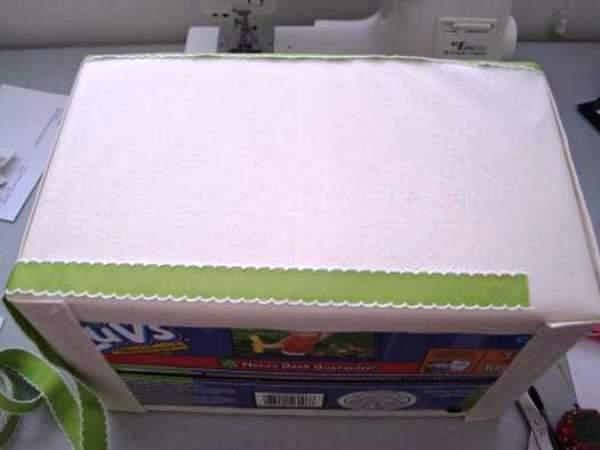 Мастер-класс по созданию картонной коробки для белья. Шаг 25